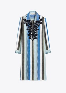 Tory Burch Embroidered Cotton Jacquard Dress