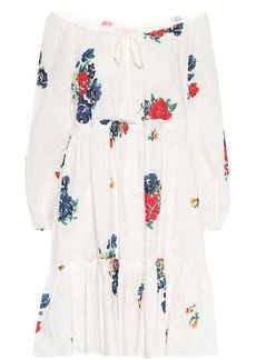 Tory Burch Embroidered cotton voile minidress