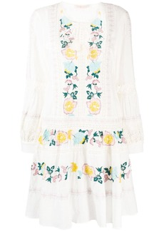 Tory Burch embroidered detail dress