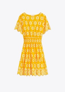 Tory Burch Embroidered Eyelet Dress