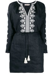 Tory Burch embroidered flared sleeve dress