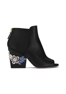 Tory Burch EMBROIDERED FLORAL BOOTIE