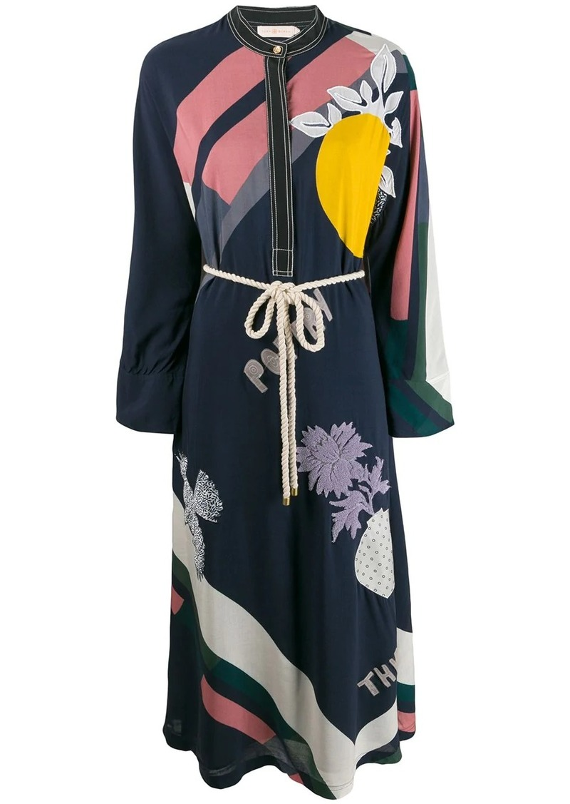 Tory Burch embroidered kimono dress