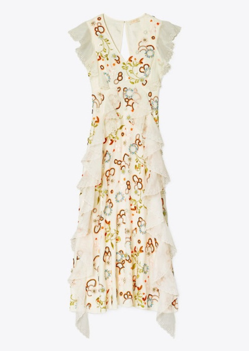 Tory Burch Embroidered Organza Dress