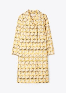 Tory Burch Embroidered Peacoat