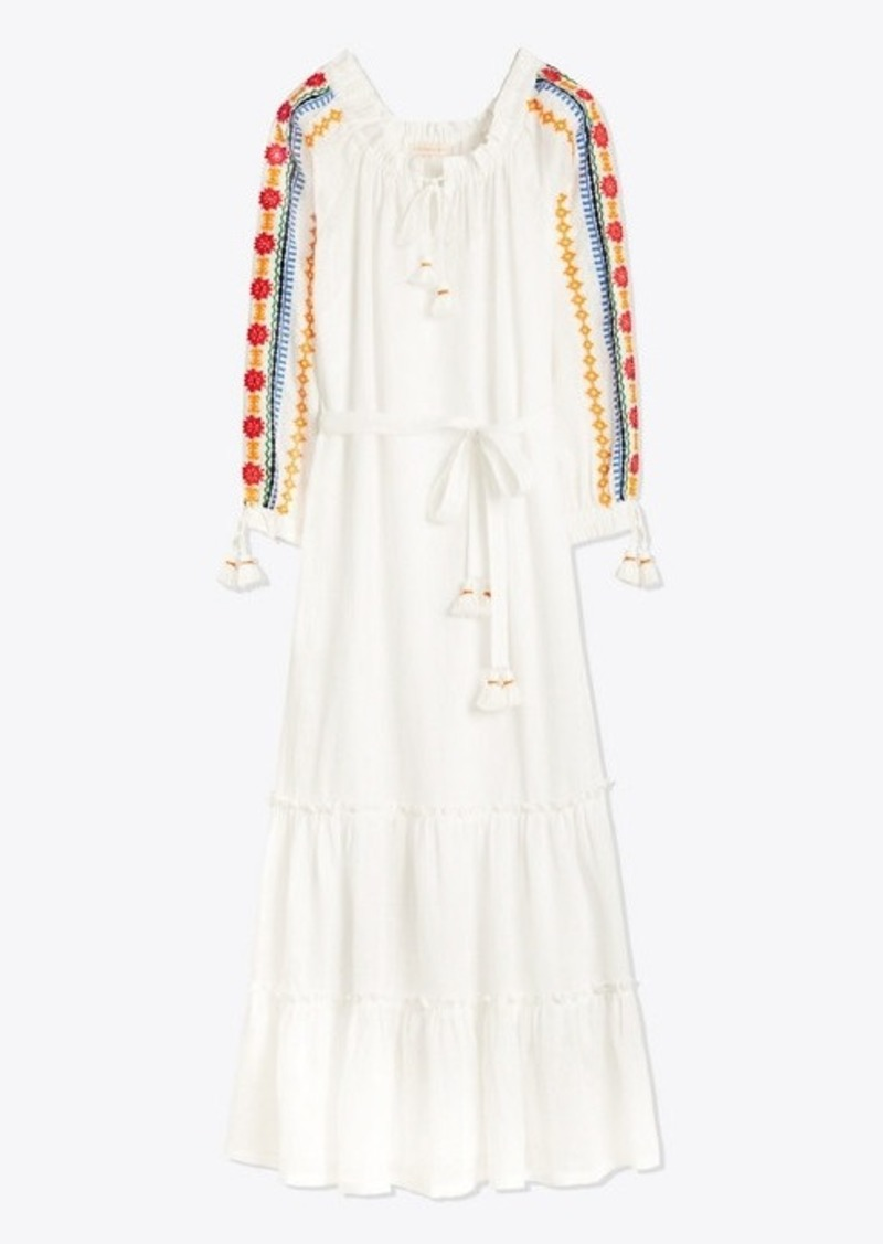 Tory Burch EMBROIDERED PEASANT DRESS