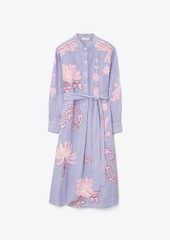 Tory Burch Embroidered Striped Shirtdress