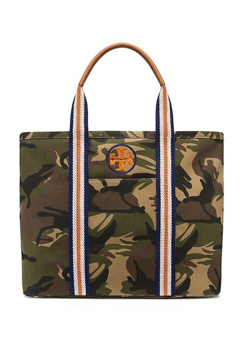 463abc5f55de On Sale today! Tory Burch EMBROIDERED-T CAMO LARGE TOTE