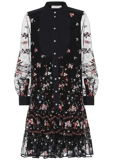 Tory Burch Embroidered tulle shirt dress