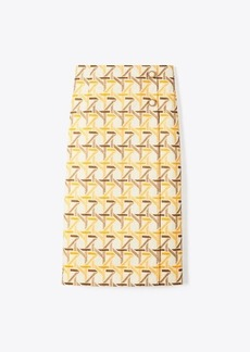 Tory Burch Embroidered Wrap Skirt