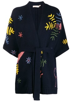 Tory Burch embroidered wrap-style cardigan