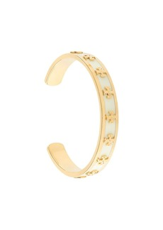 Tory Burch enamelled raised-logo cuff