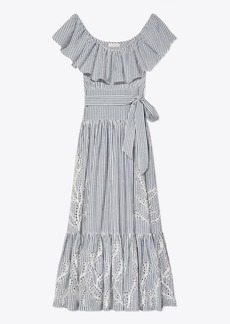Tory Burch Eyelet Embroidered Dress