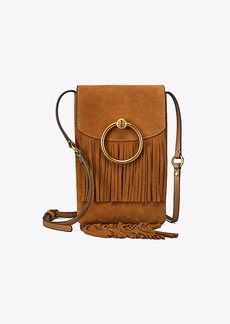 Tory Burch FARRAH FRINGE PHONE CROSS-BODY
