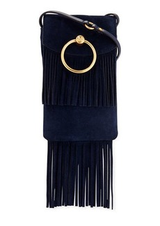 Tory Burch Farrah Fringe Suede Phone Crossbody Bag