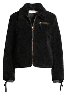 Tory Burch Faux Sherpa Jacket