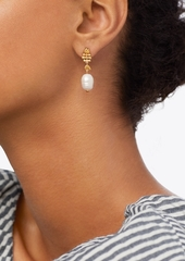 Tory Burch FISH & PEARL MISMATCHED DROP EARRING