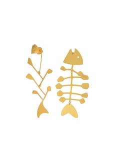 Tory Burch Fish Mismatched Earrings
