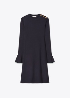 Tory Burch FLARE-SLEEVE SWEATER DRESS