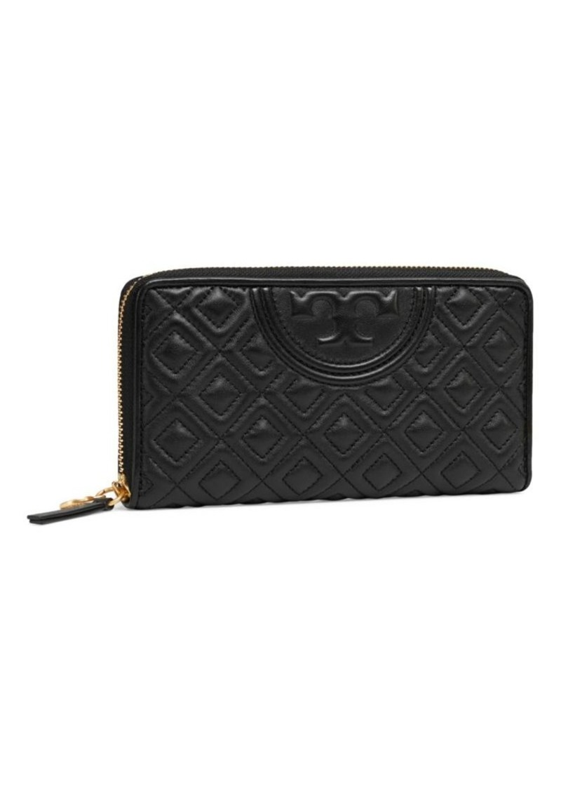 Tory Burch Fleming Zip-Around Leather Wallet