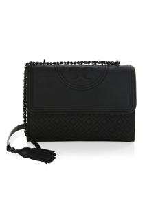 Tory Burch Fleming Matte Leather Shoulder Bag