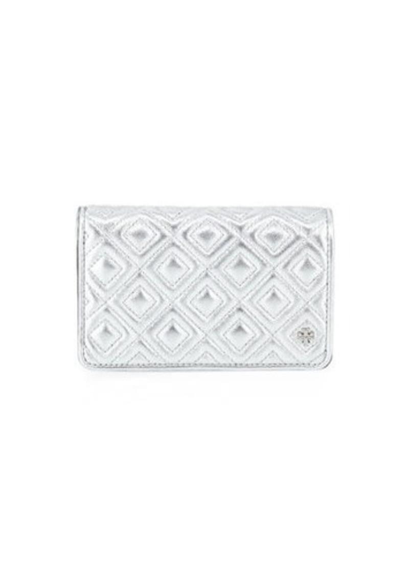 Tory Burch Fleming Medium Metallic Slim Wallet