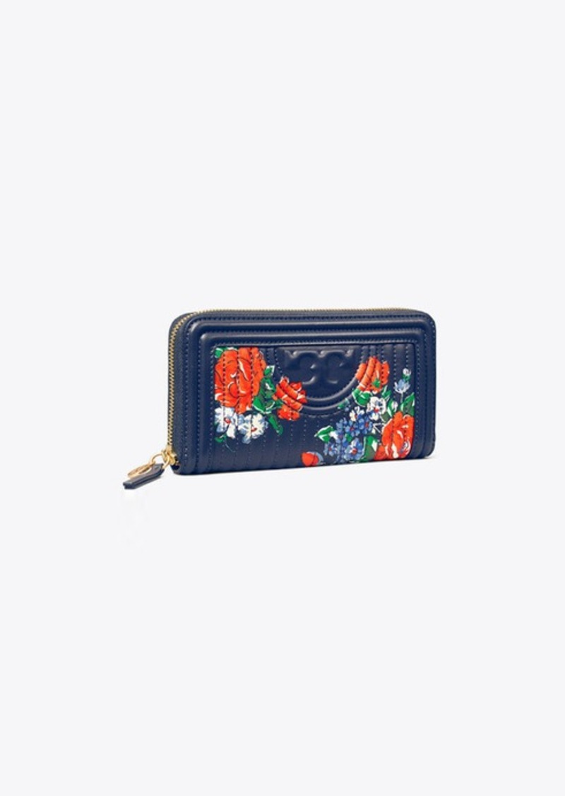 Tory Burch FLEMING SOFT PRINTED ZIP CONTINENTAL WALLET