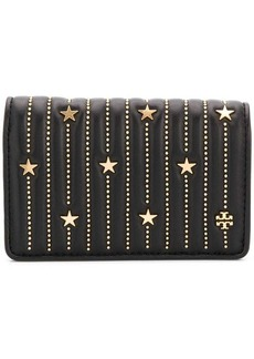 Tory Burch Fleming star-stud card case