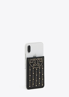 Tory Burch FLEMING STAR-STUD PHONE CARD POCKET