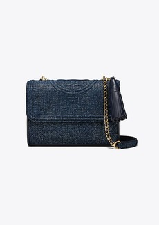 Tory Burch FLEMING SUEDE SMALL CONVERTIBLE SHOULDER BAG