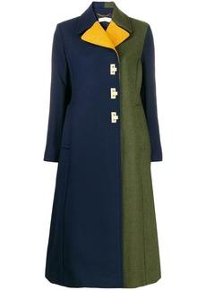 Tory Burch flip-lock color-block coat
