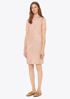 Tory Burch FLORAL CLOQUÉ-FRONT SWEATER DRESS
