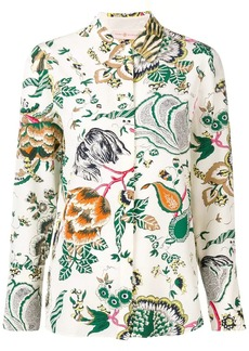 Tory Burch floral embroidered blouse