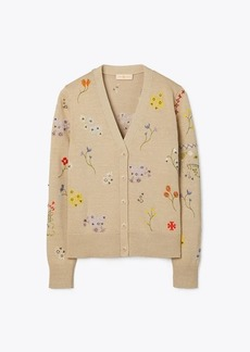 Tory Burch Floral Embroidered Cardigan