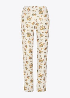 Tory Burch Floral Jacquard Trouser