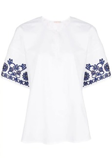 Tory Burch floral pattern blouse