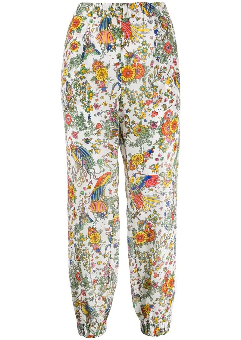 Tory Burch floral print cropped trousers