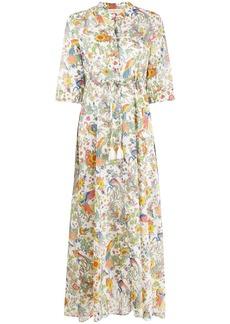 Tory Burch floral print maxi dress