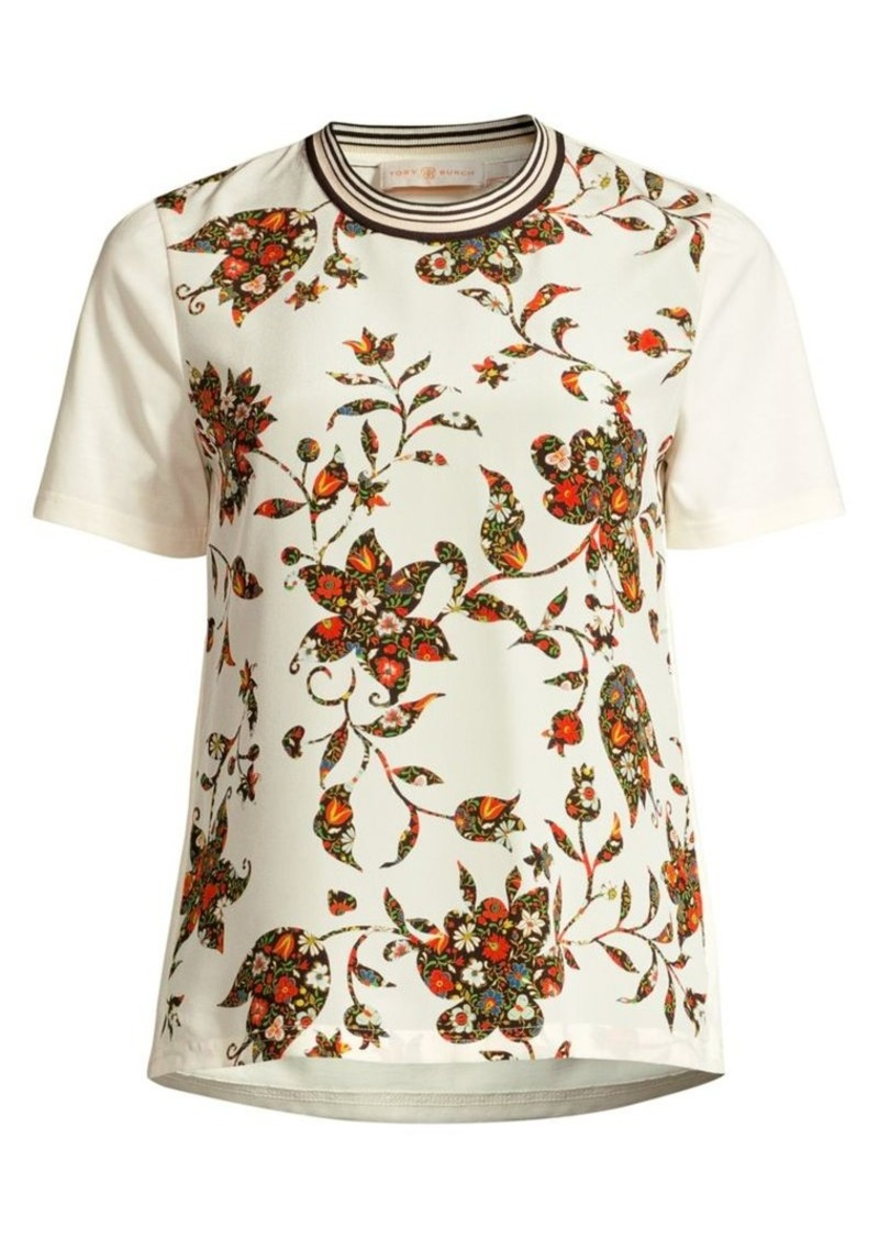 Tory Burch Floral-Print Tee
