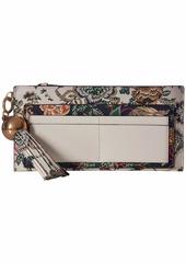 Tory Burch Floral Tassel Top Zip Wallet