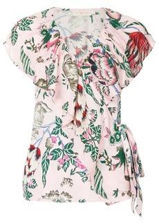 Tory Burch floral wrap blouse