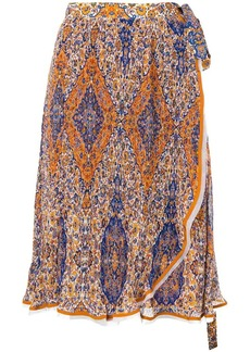 Tory Burch floral wrap skirt