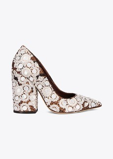FRANCESCA EMBROIDERED PRINTED PUMP