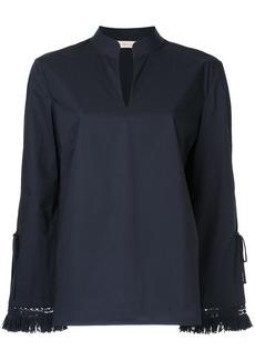 Tory Burch fringe sleeve blouse