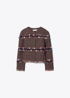 Tory Burch Fringe Tweed Jacket