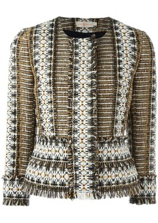 Tory Burch fringed tweed jacket