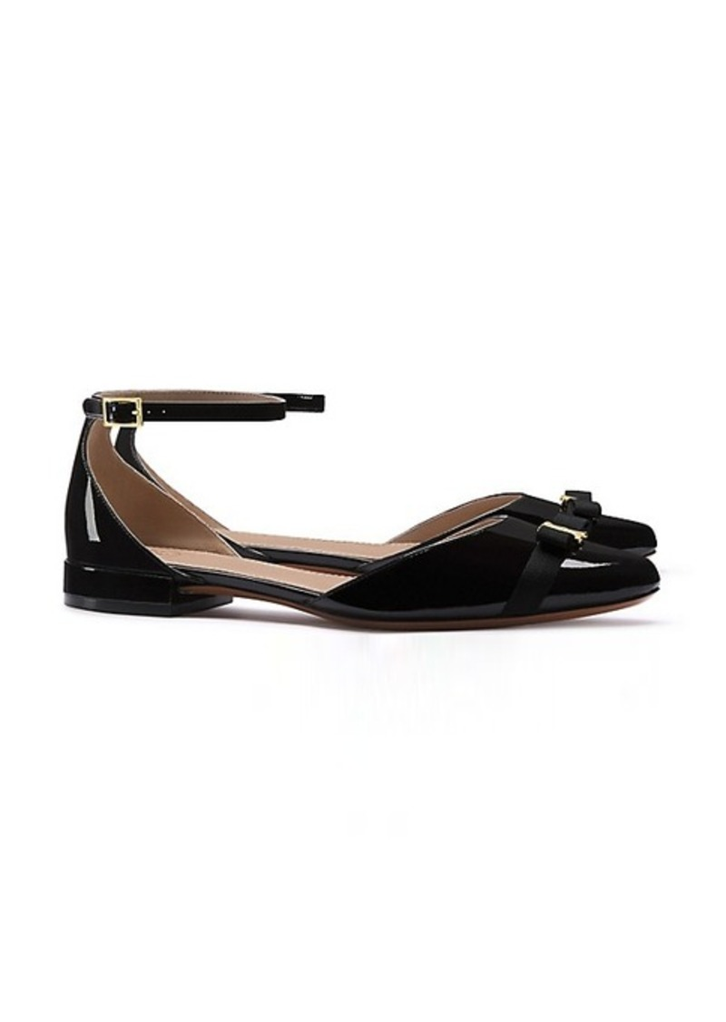 8be5d9930e5 Tory Burch GEMINI LINK BOW ANKLE-STRAP FLAT