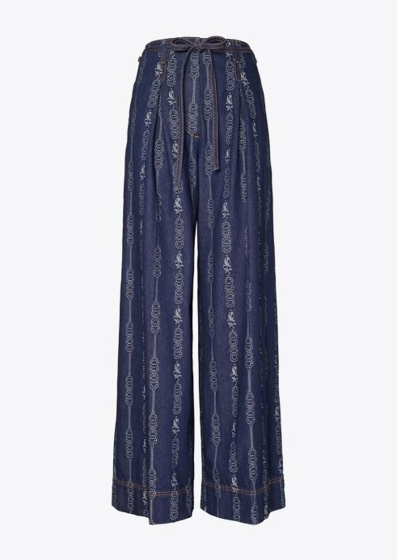Tory Burch GEMINI LINK DENIM TROUSER