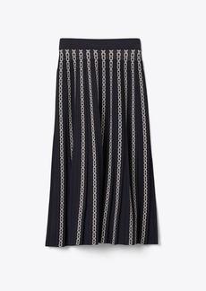 Tory Burch Gemini Link Jacquard Skirt