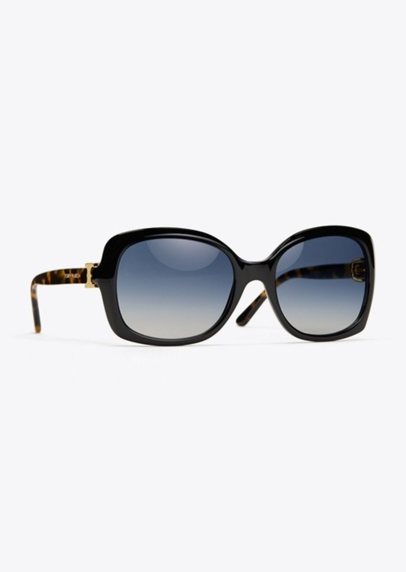 Tory Burch GEMINI LINK OVERSIZED SUNGLASSES